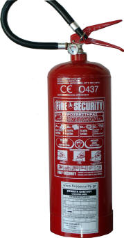 Πυροσβεστήρας Ξηράς Κόνεως Χειρός 6Kg - πιστοποιημένος κατα CE & EN3