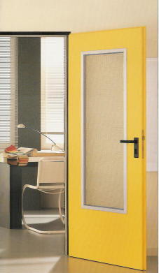 Πόρτες πυρασφάλειας με γυαλί